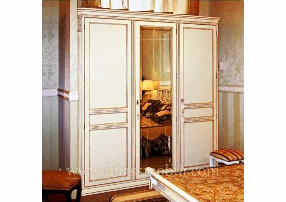 Шкаф 3-х дверный с зеркалом бристоль (беж) купить по лучшей .